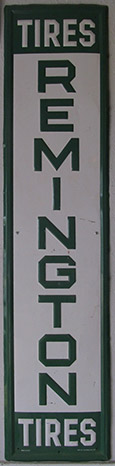 Remington tires sign