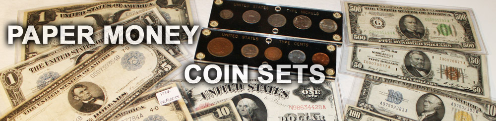 Paper money and coin Collections